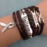 Cancer-ribbon-armbandje